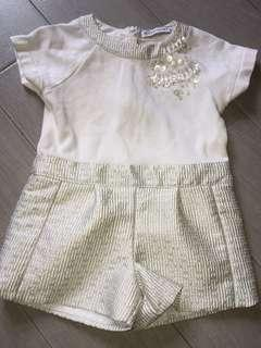 Gingersnap Jewel Romper 3-4y