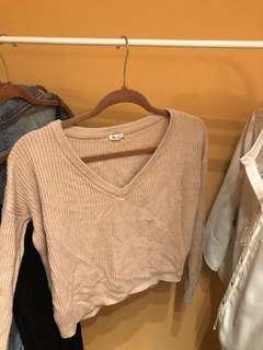 Garage light pink sweater