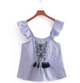 #MY1212 Tassel Top