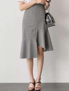 #MY1212 checkered skirt