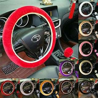 3pcs set car steering wheel cover handbrake accessorie automotive interior case