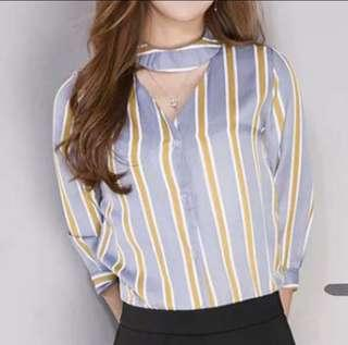 #MY1212 stripe blouse