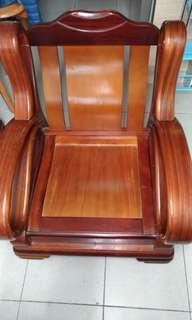 原木單人沙發椅