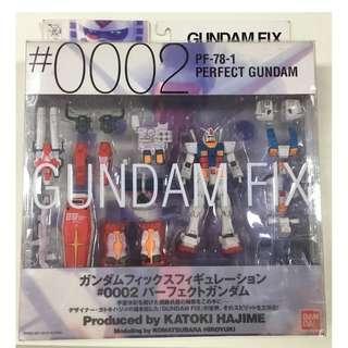 全新絕版 Gundam Fix GFF #0002 PF-78-1-78-1 PREFECT GUNDAM 1盒