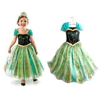 1-9yrs old Elsa Frozen costume disney party children dress