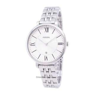 🚚 Fossil Jacqueline Silver Dial Stainless Steel ES3433 Women's Watch