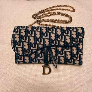 Saddle Dior Oblique WOC 手拿包 長夾 皮夾