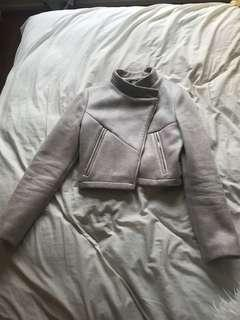 Elle Louise suede jacket cropped