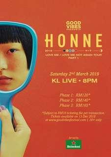 Honne Love Me/ Love Me Not Asian Tour KL Live