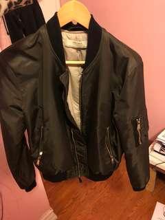 Zara Olive Green Bomber Jacket