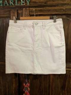 Mavi White Alice Denim Skirt