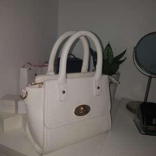 White celine inspired handbag