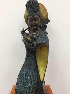 ✨佛手觀音 ✨純銅雕件 佛像 銅像