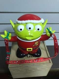 🚚 現貨日本東京迪士尼樂園 聖誕節限定 玩具總動員 三眼怪 三眼仔 公仔 爆米花桶 置物桶 收納桶