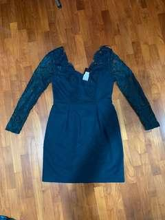 Oasis BNWT cocktail dress lace green