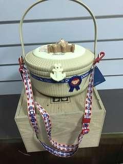 🚚 現貨日本東京迪士尼樂園 達菲Duffy 春季巡航限定款 爆米花桶 附背帶 置物桶 野餐籃 收納桶