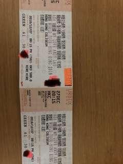 劉德華演唱會 2018 - $580 連位 27日