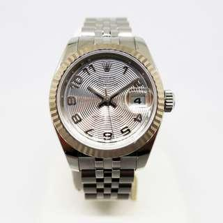 Rolex Ladies Datejust 179174 Silver Concentric Arabic Dial