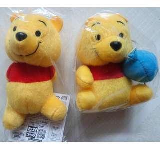 [包平郵]全新 日本 sega 迪士尼 disney 小熊維尼公仔 景品 winnie the pooh