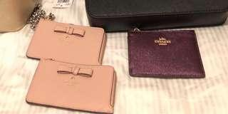 Kate spade and Coach Card Holder with purse
