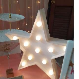 [RENTAL] Dessert Table_Party Props_Shaped Batt Operated Deco Light