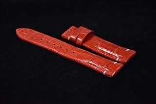 (20/18mm) Minimal Red Crocodile Belly Leather Strap