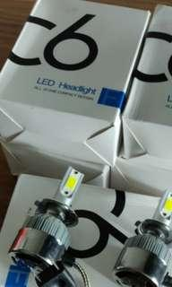 White LED headlight for cars