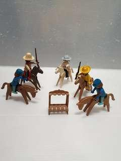 Vintage  playmobil cowboy lot