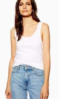 🚚 Topshop Slim Vest - White Tank Top