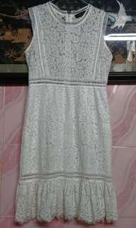 Twin set simona barbieri lace sleeveless mid length dress