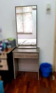 Makeup Table with Mirror & Drawer