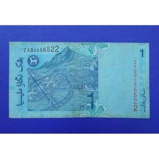 JanJun 11th Replacement Zeti Rare Siri 11 RM1 Banknote