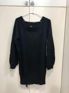 🚚 Black by Moussy 黑色毛衣洋裝