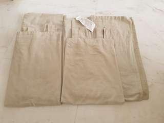 #MY1212 IKEA  Lenda BEIGE  Curtain set