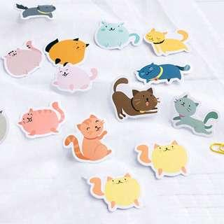 🚚 🌟BN INSTOCKS Adorable Assorted Fat Cats Stickers Box