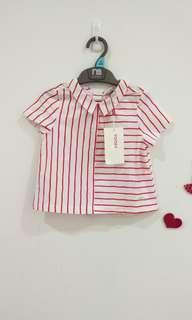 🆕3-4Y Poney Red Stripes Tops
