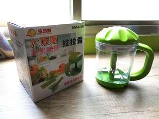 大旋風蔬果啦啦霸-可絞碎蔬果食材 製作嬰兒副食品 蒜頭切碎