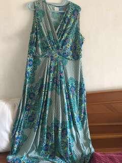 Jumbo size dress panjang kualitas expor