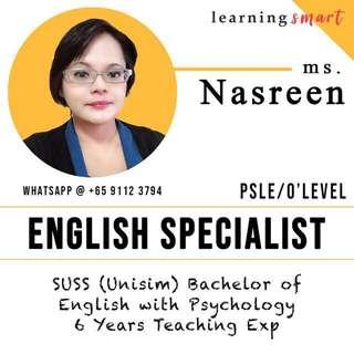 English home tuition Primary PSLE secondary O level