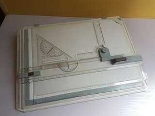 A3 Drafting Board with templates and scale
