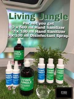 LIVING JUNGLE HAND SANITIZER & DISINFECTANT SPRAY