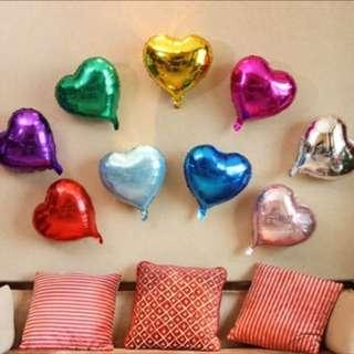 現貨 情人節限定 愛心 鋁膜氣球 18吋