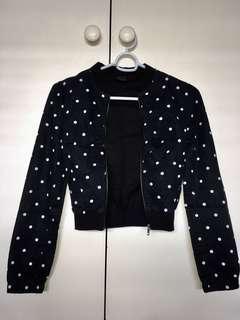 Urban Polka Dot Bomber Jacket