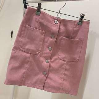 🚚 S~韓版 絨布粉色短褲群 8成新 歡迎議價