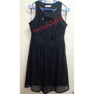 🆕Kitschen Front Cut Out Black Dress