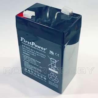 🚚 FP645 FirstPower® Rechargeable Lead Acid Battery 6V 4.5Ah/20Hr, Non-Spillable (0.71kg) #4500mAh #Pb #Battery