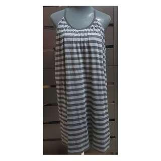 Preloved Uniqlo Striped Sleeveless Nightgown (Size details on Description)