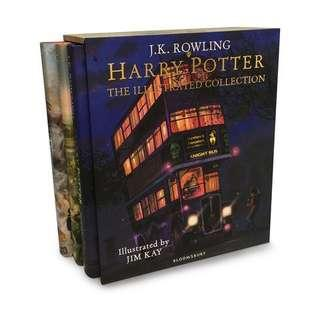 BNIB Harry Potter: The Illustrated Collection Box Set - 3 Books