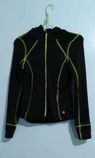 Neon gym jacket with hood