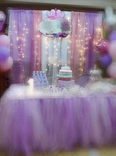 Party background deco curtain